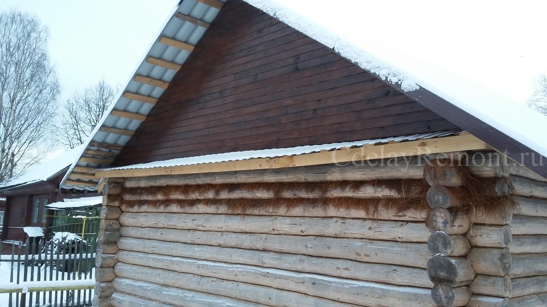 Готовый фронтон крыши