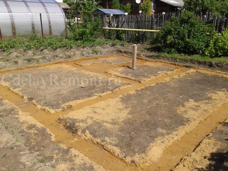 Трамбовка песка под фундаментом