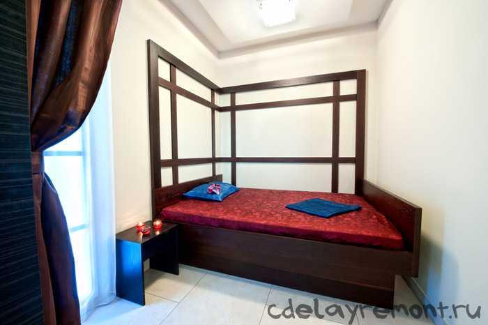 Вид маленькой спальни