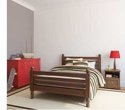 Вид спальни в стиле минимализм