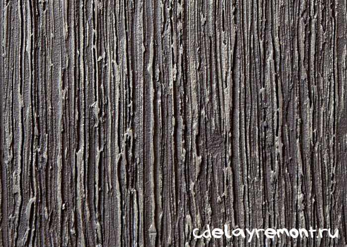 Имитация коры древесины с помощью фактурной штукатурки