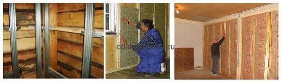 Технология утепления стен в деревянном доме