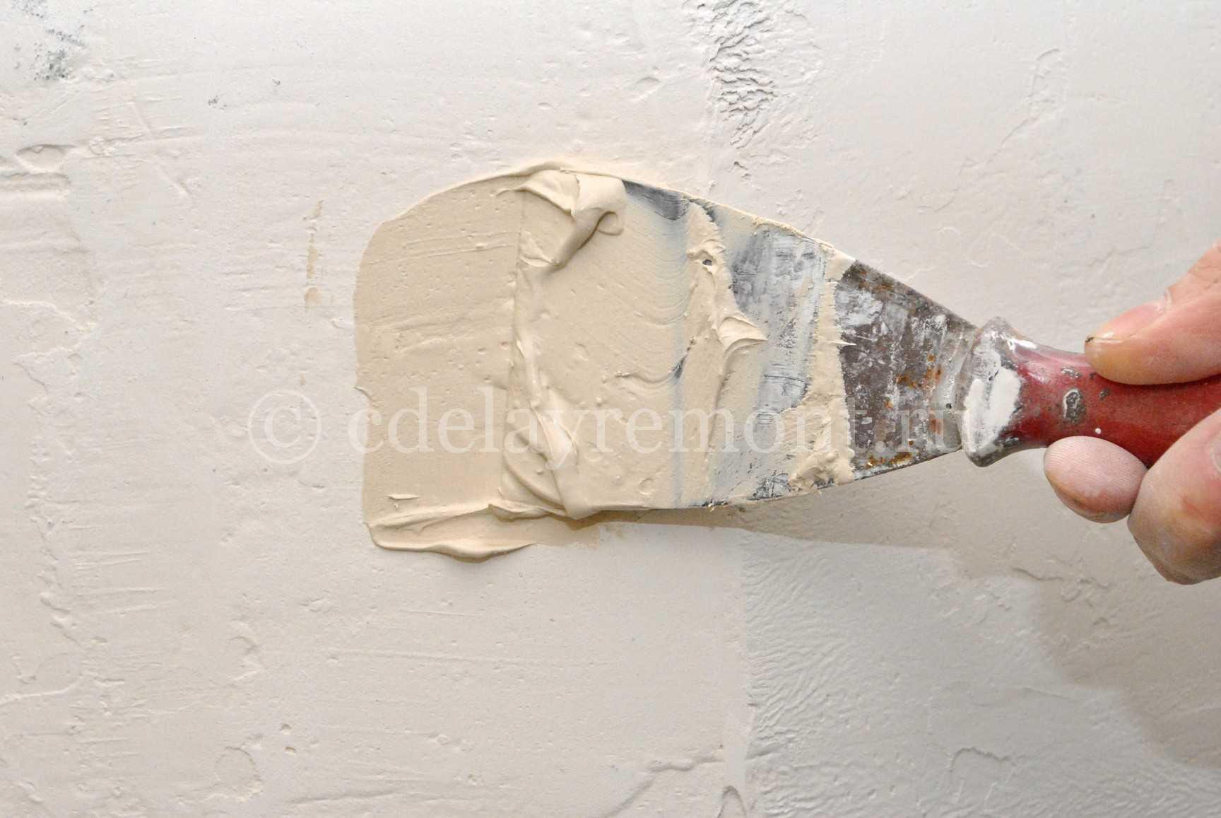Заделка дыры в стене