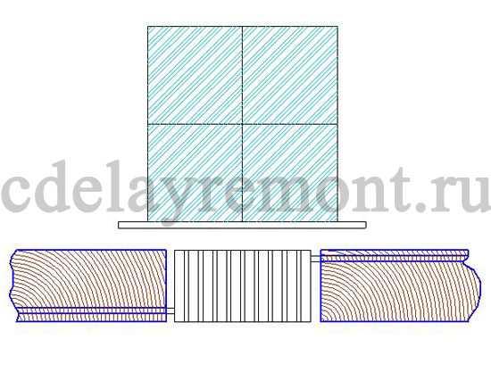 Маскировка труб отопления при помощи специального экрана