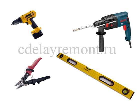 Инструменты для установки гипсокартона на стену