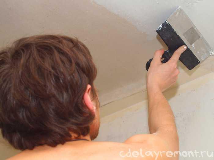 Шпатлевка потолка из гипсокартона