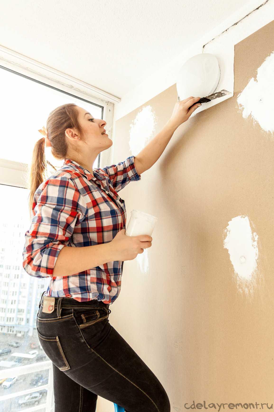 Подготовительные работы к покраске стены