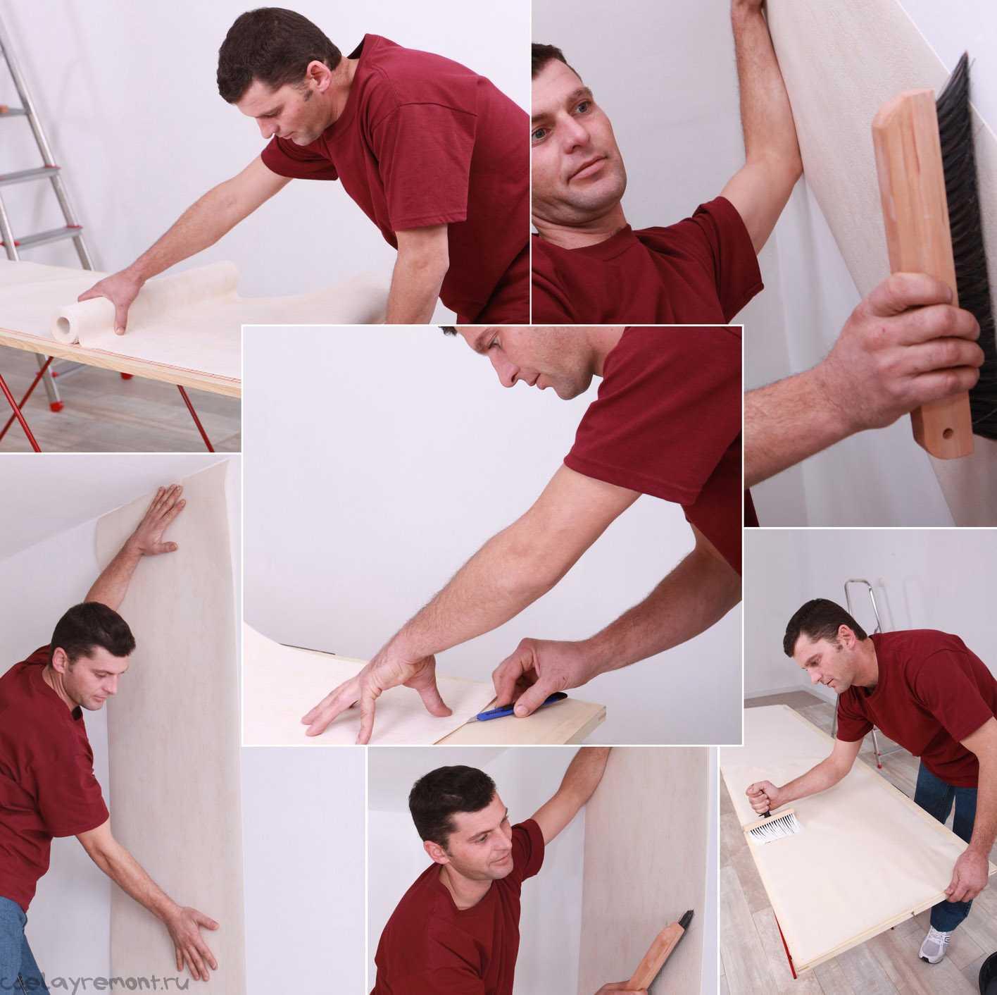 Как клеить обои на стены из гкл