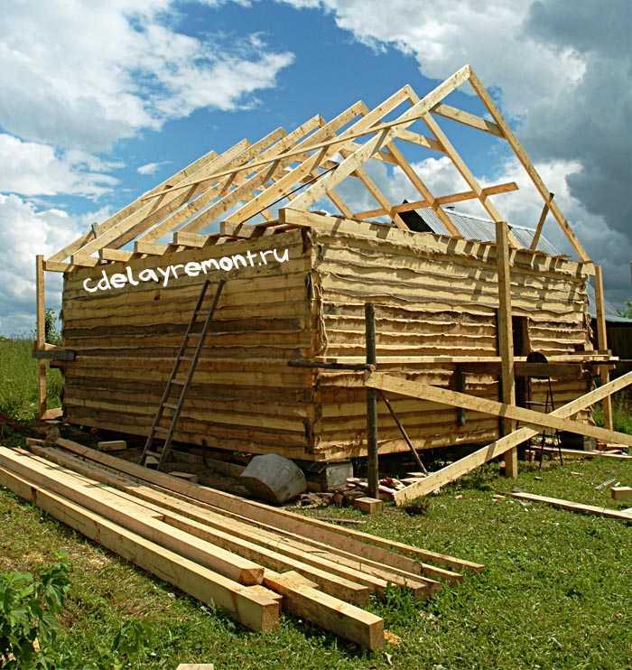 Самостоятельное строительство недорогого дома из бруса