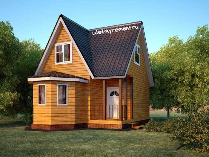 Дачный деревянный дом