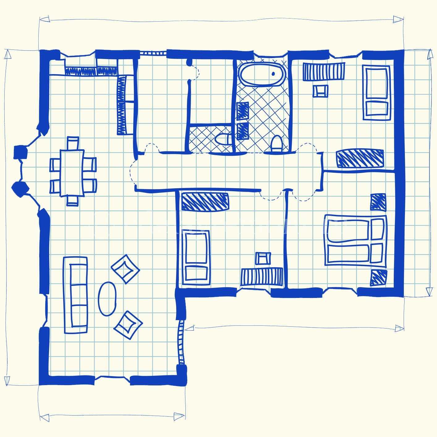 Планировка загородного жилого дома