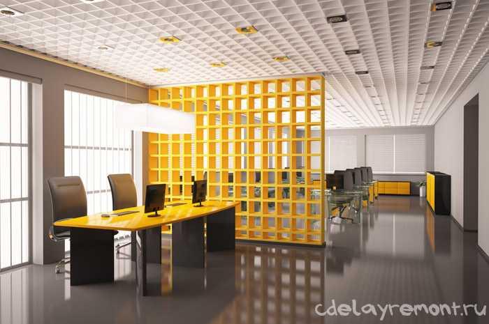 Оформление интерьера в офисе