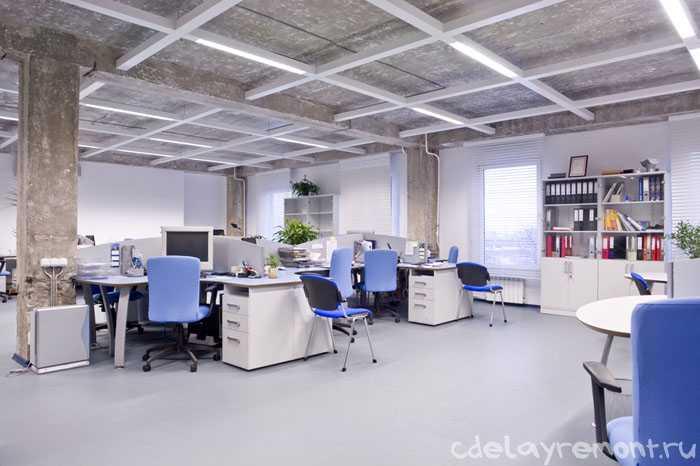 Современный дизайн большого офиса