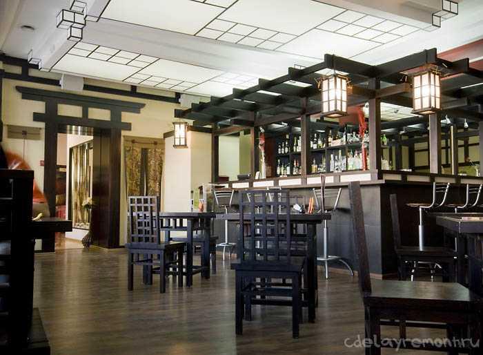 Восточный дизайн ресторана