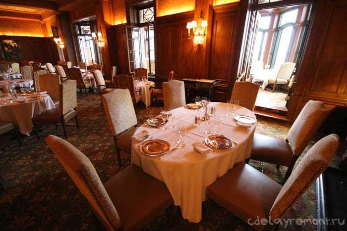 Оформление помещения ресторана в классическом стиле