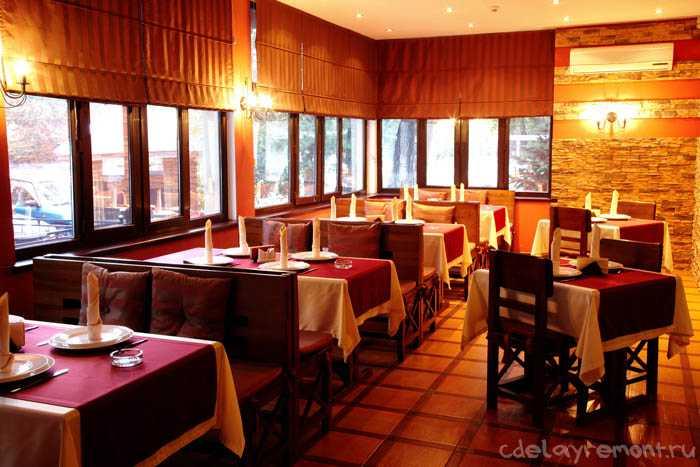 Оформление помещения ресторана
