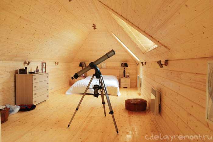 Дом из клееного бруса: вид изнутри