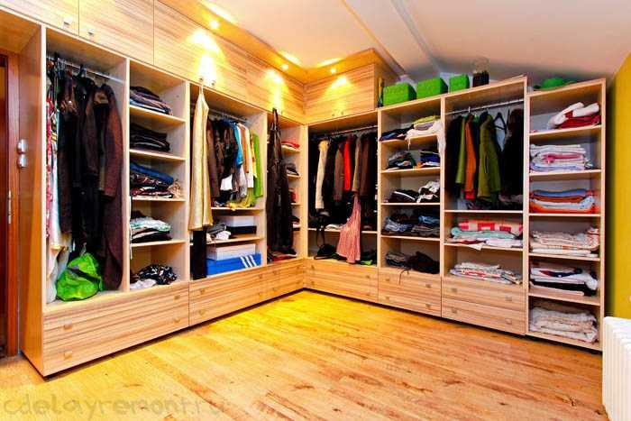 Оформление гардеробной