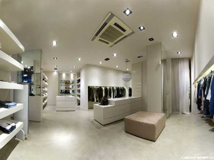 Стильный дизайн торгового зала