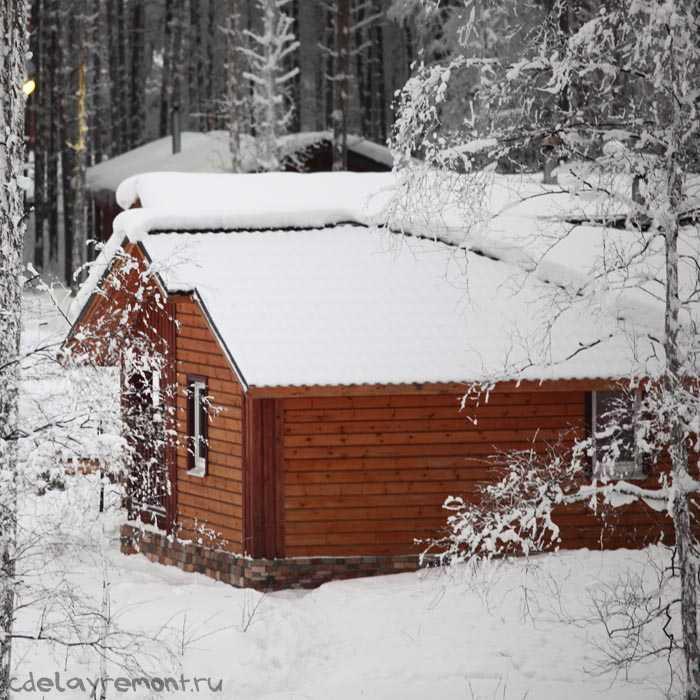 Дом, построенный из бруса