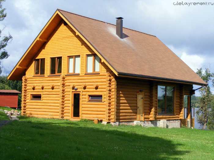 Оцилиндровка тоже часто используется для строительства дачного дома