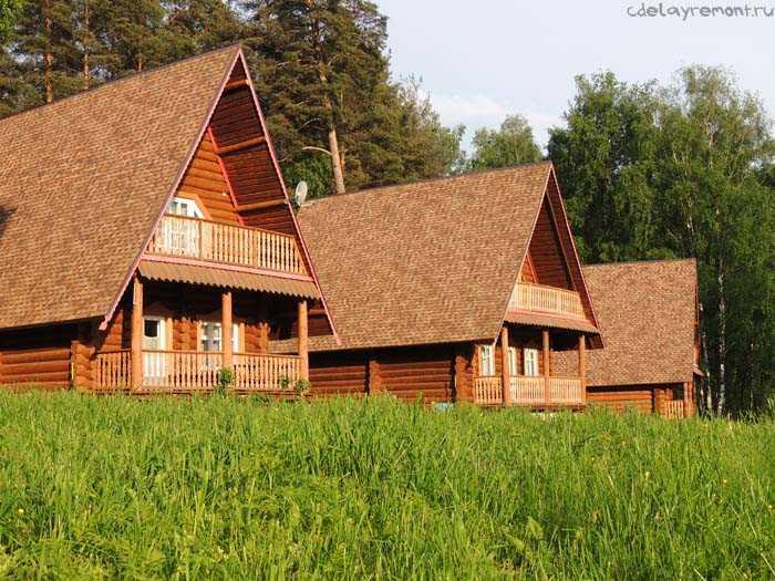 Дачный дом из бруса, фото