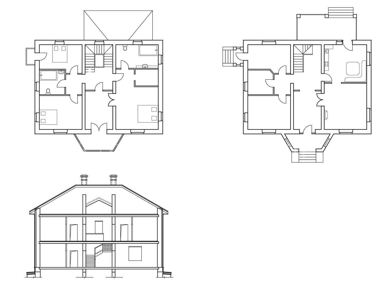 Поэтажная планировка дома