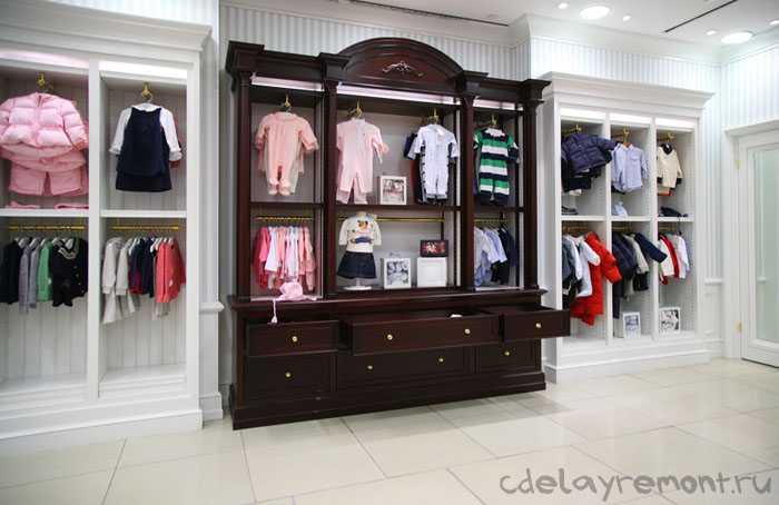 Фото дизайна магазина детской одежды