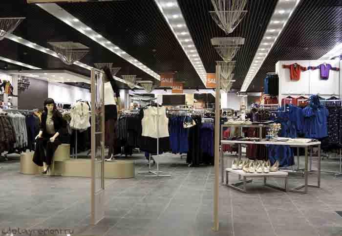 Продажа одежды в гипермаркете