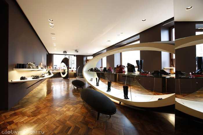 Модный дизайн магазина