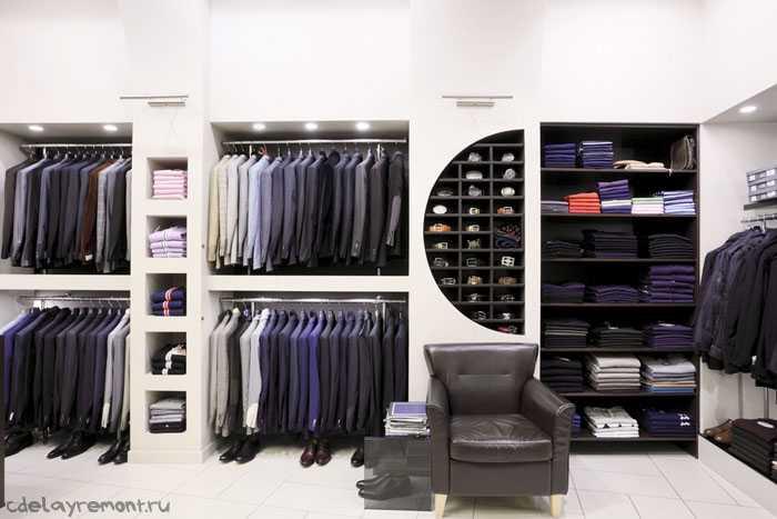 Фото интерьера магазина мужской одежды