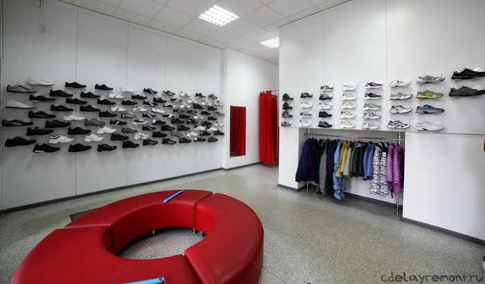 Оформление магазина спортивной обуви
