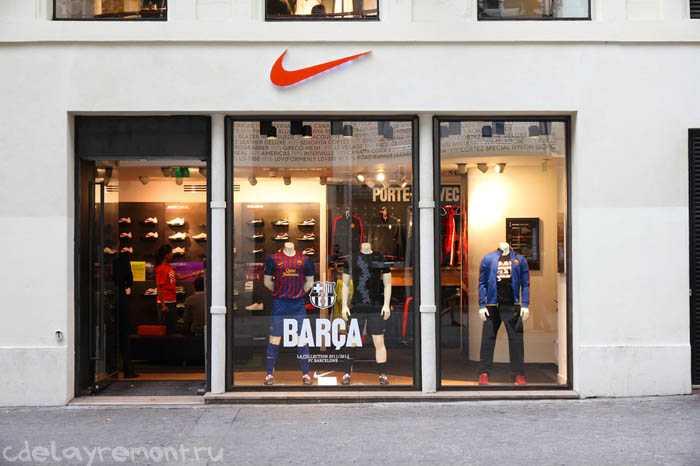 Оформление магазина спортивных товаров