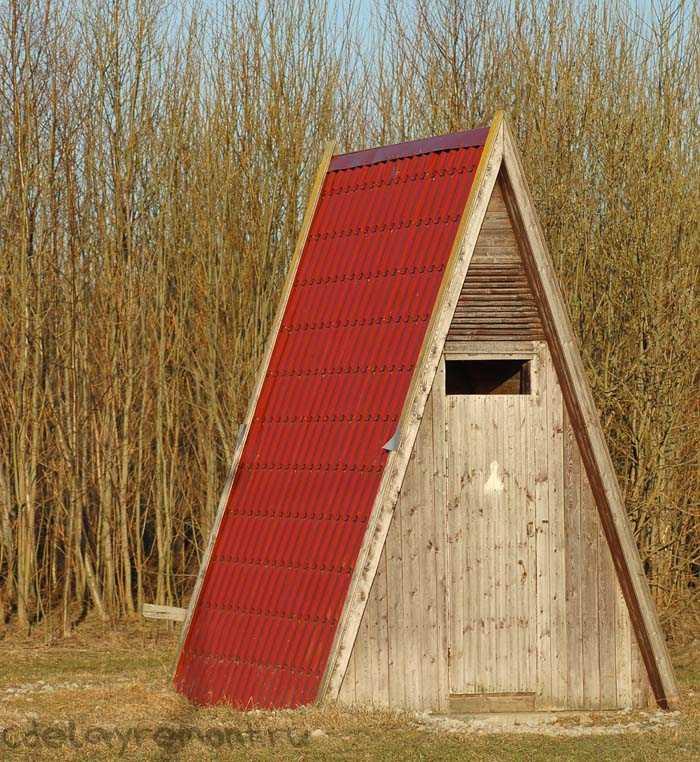 Простой вариант дачного туалета