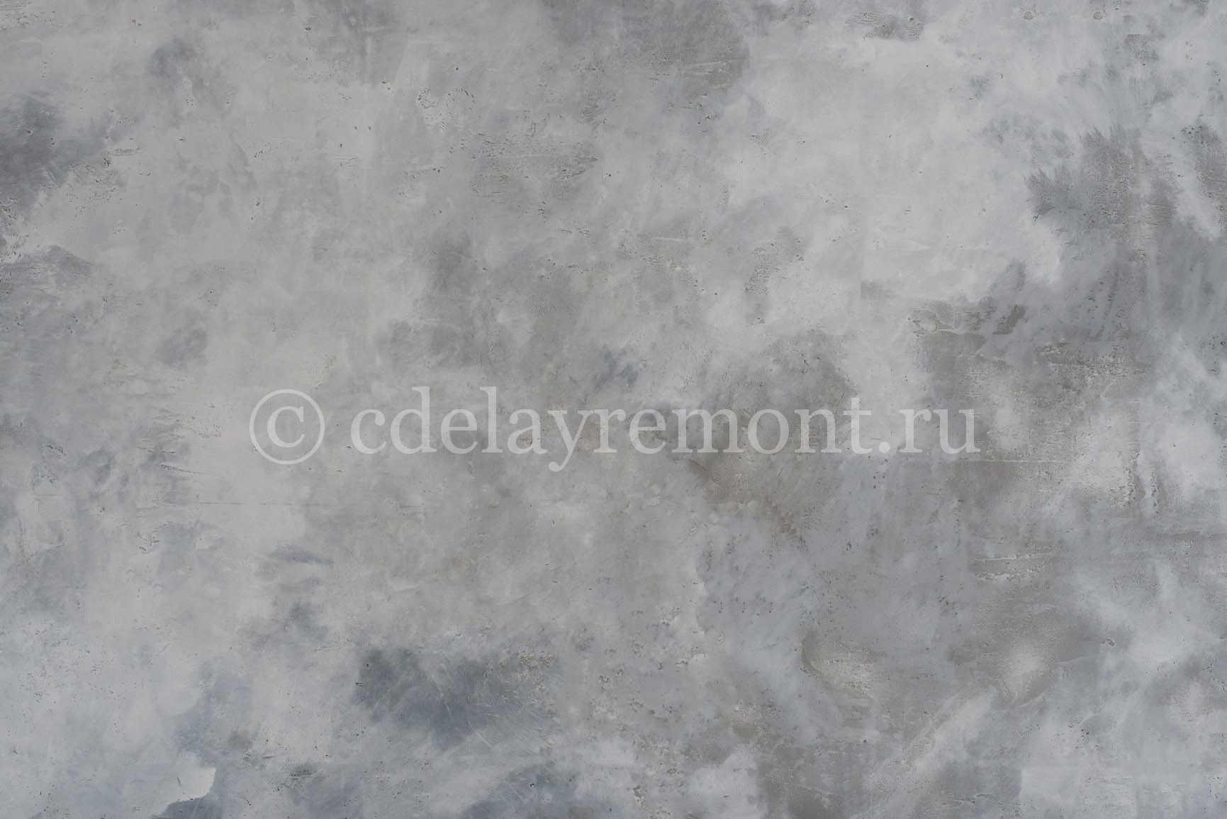 Декорирование стен под бетон