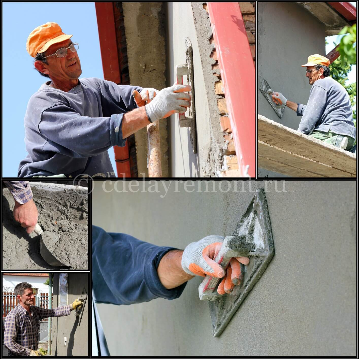 Технология оштукатуривания фасада