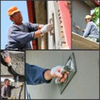 Construction Workers At Work - Collage