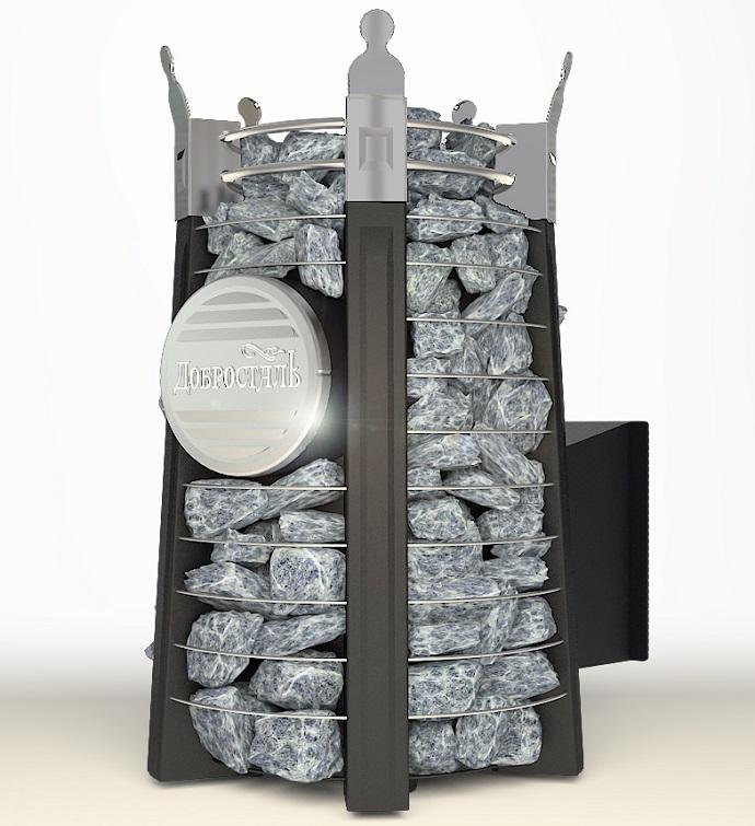 Печь банная Добросталь - Августа СТОУН стронг с панорамным стеклом