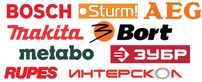 Luokitus 15 slotmachines: Interskol, Bosh, Sturm, AEG, Metabo, Makita, Bort, Rupes, Bison