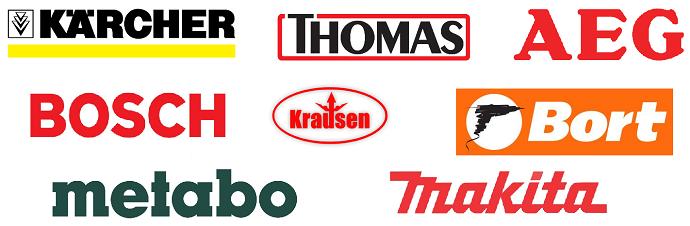 Yleiskatsaus rakennuksen siivoojat: Kärcher, Thomas. AEG, Krausen, Metabo, Makita, Bort, Bosh