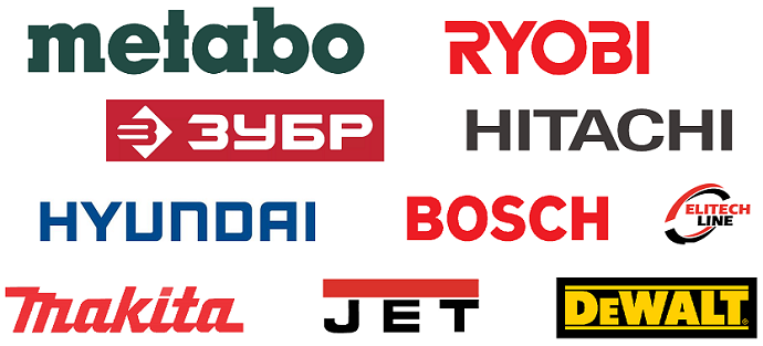 Katsaus hiippa sahat: Metabo, Ryobi, Hitachi, Bosch, Elitech linja, Makita, Jet, DeWalt, bison