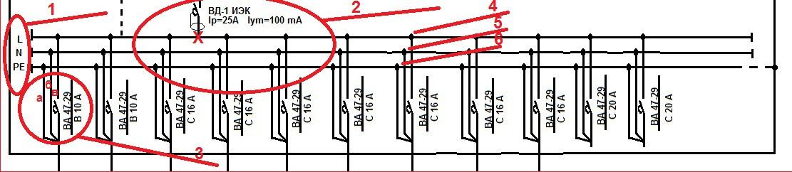 Схема однолинейная