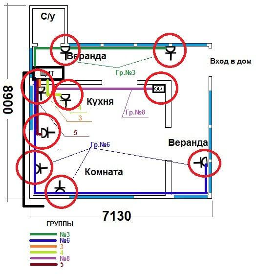 План силовой сети