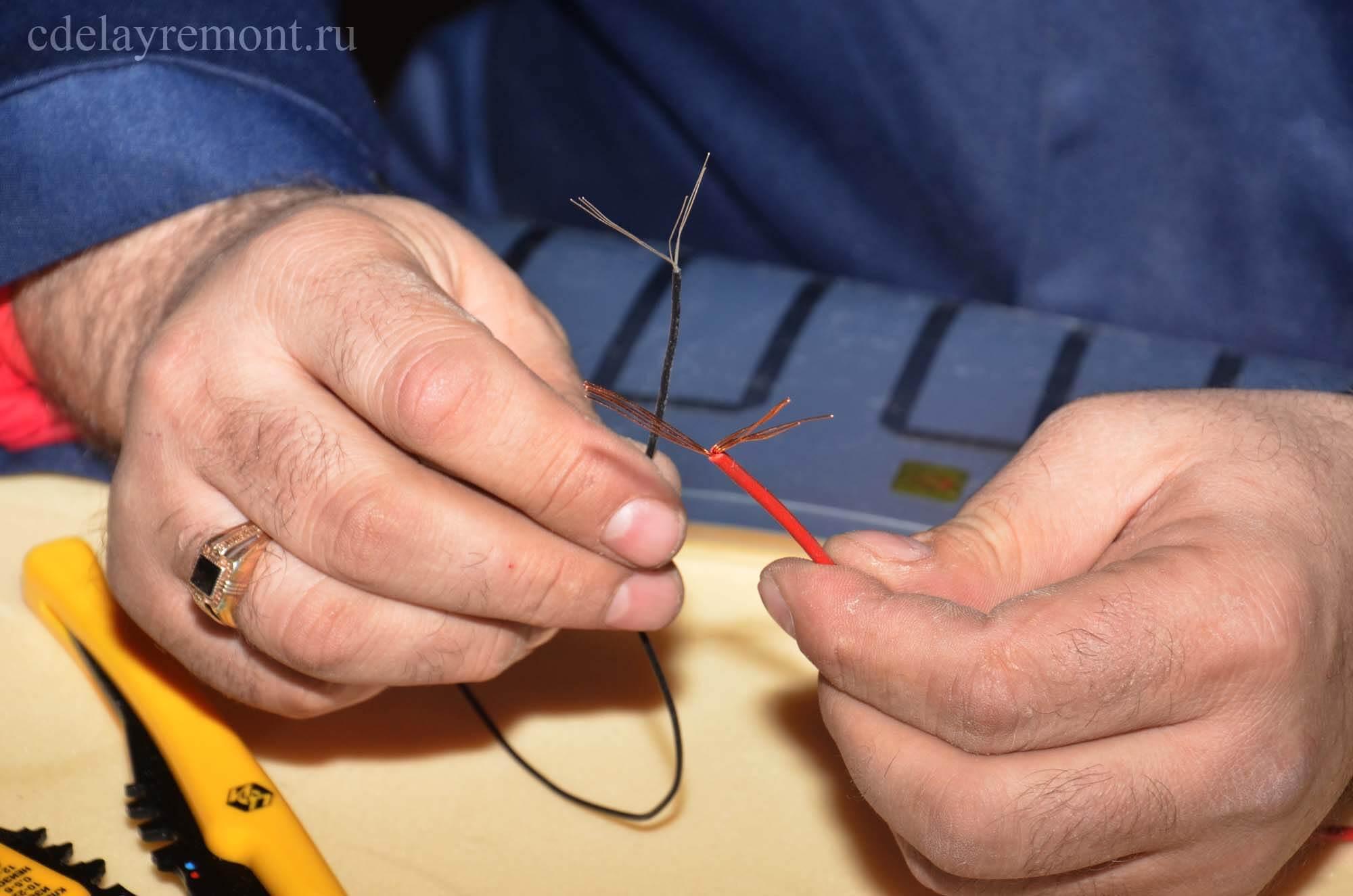 Соединение проводов при монтаже ПЛЭН