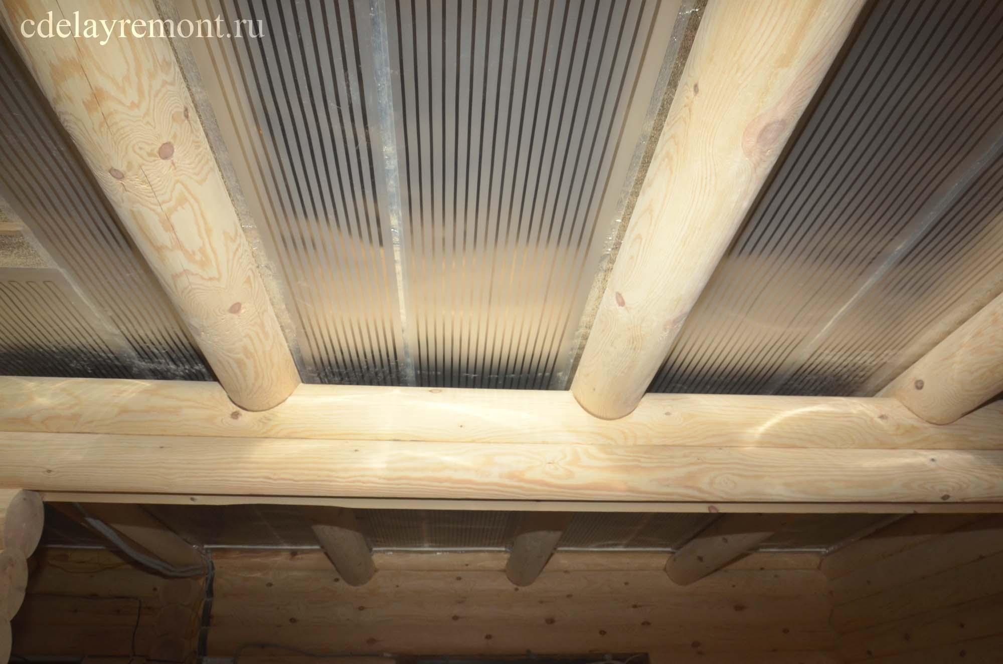 Отопление ПЛЭН на потолке