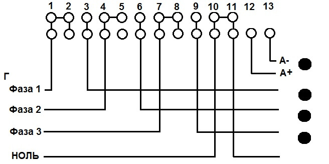 Схема подключения счётчика Трио» title=