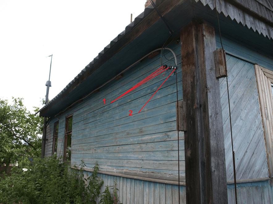 Вводной наружный кабель